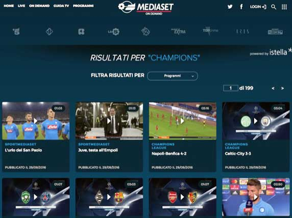 mediaset canale 5 streaming