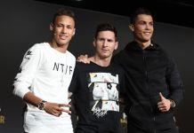 neymar messi cristiando rolando pallone d'oro