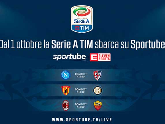 sportube elevensport calcio streaming
