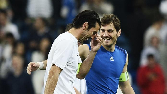 buffon casillas juventus real madrid