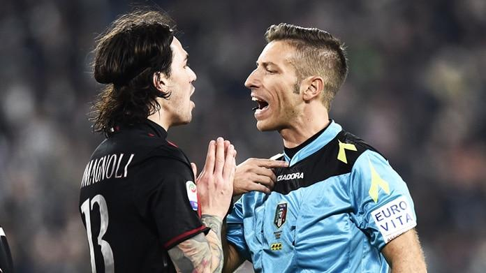 Rigore Juventus-Milan, Nicchi e Messina puniscono Doveri perchè non andava assegnato