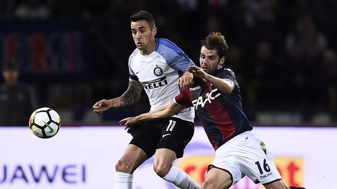 Inter-Bologna 2-1, VAR: mano D'Ambrosio, non è rigore. Masina espulso
