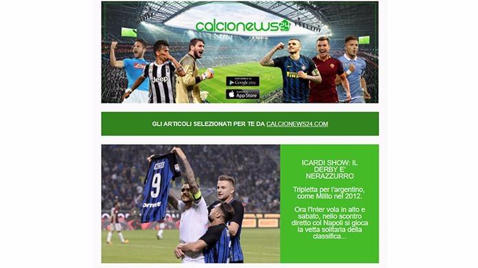 calcionews24.com newsletter
