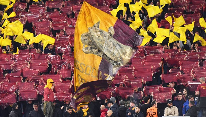 tifosi stadio roma