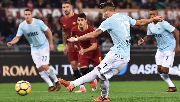 immobile rigore roma-lazio derby