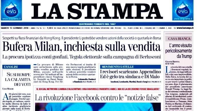 La Stampa: soldi riciclati per la vendita del Milan. La Procura indaga