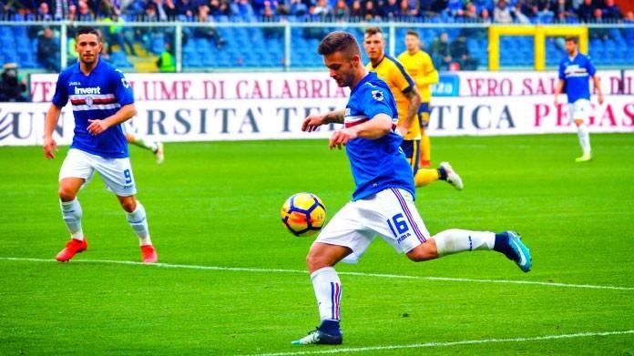 Allenamento calcio Sampdoria modello