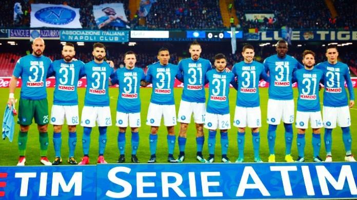 Ghoulam, il Napoli entra in campo con la maglia numero 31 - FOTO ...