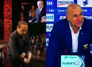 berlusconi ballardini seduta sampdoria-genoa derby