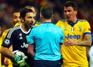 buffon espulsione real madrid-juventus arbitro oliver