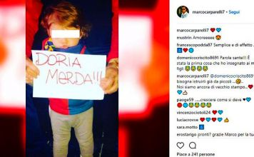 carparelli criscito sampdoria-genoa derby instagram