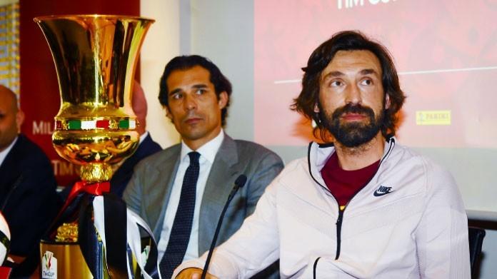 Calcio: Pirlo ambassador finale Tim Cup tra Milan e Juve