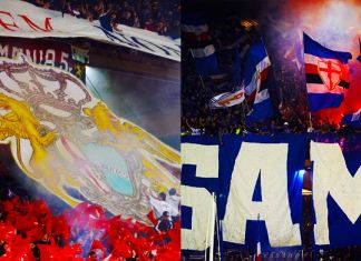tifosi derby genoa-sampdoria coreografia