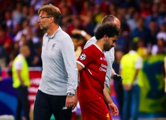 klopp salah infortunio liverpool finale champions league 2018