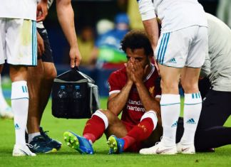 salah infortunio real madrid-liverpool finale champions league 2018
