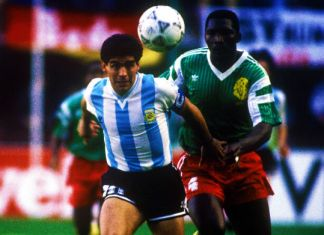 maradona massing argentina-camerun italia 1990