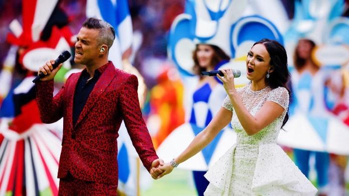 robbie williams aida garifullina cerimonia apertura mondiale russia 2018