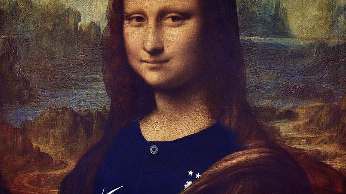 La Gioconda con la maglia dei Blues: è polemica in Italia
