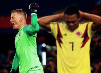 pickford bacca colombia-inghilterra mondiali 2018