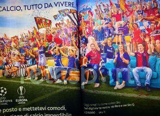 sky tifosi pubblicità lazio roma