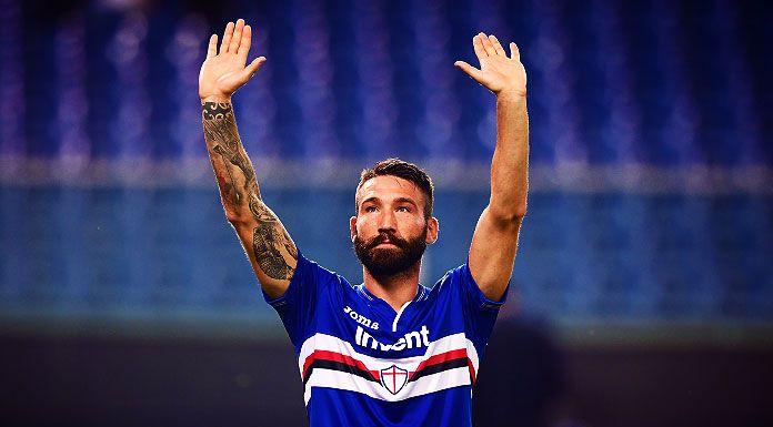 Sampdoria in campo per il Parma |  Tonelli in gruppo |  out Vieira