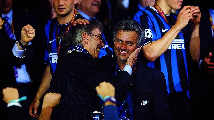 moratti mourinho inter champions league