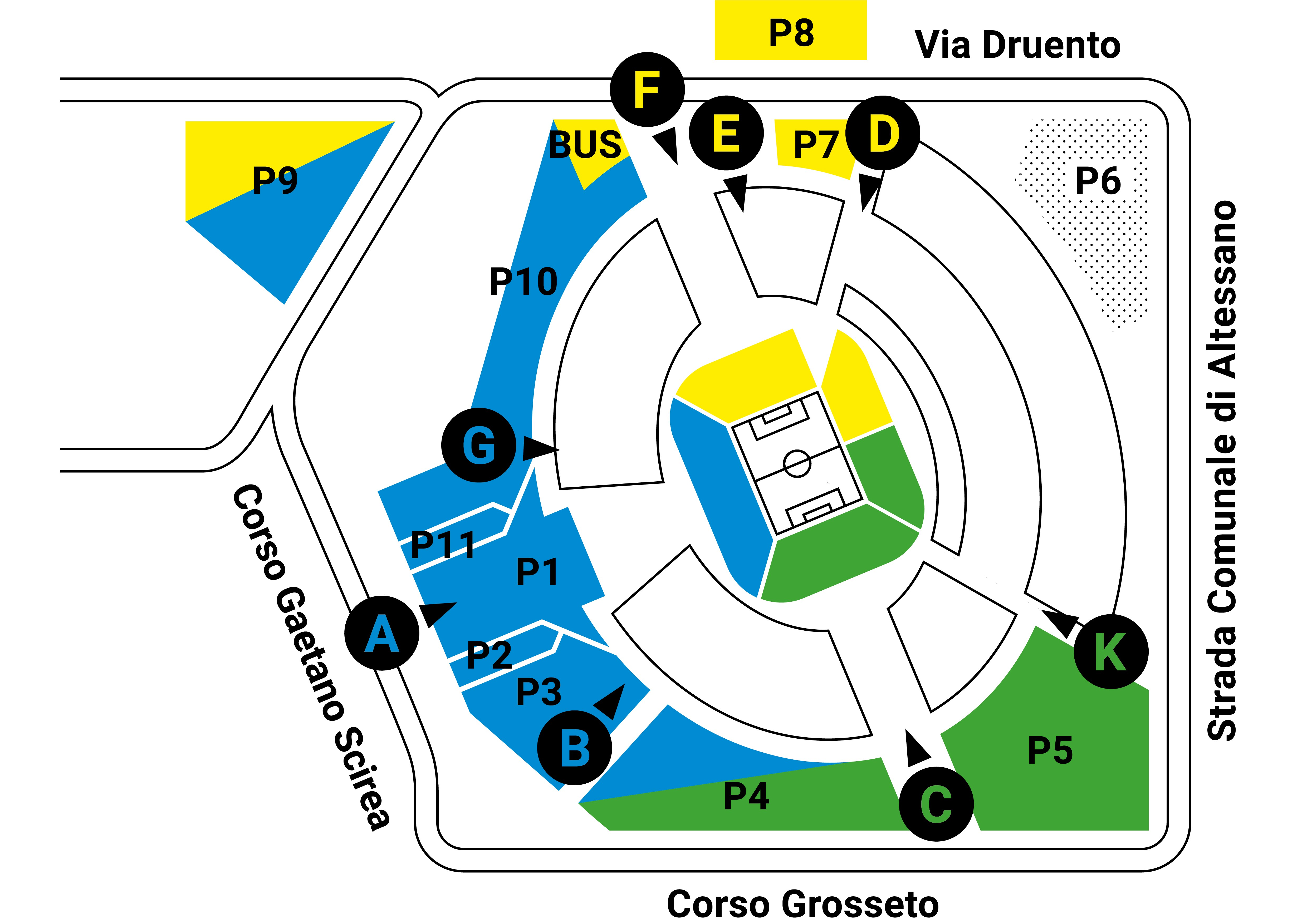 parcheggi juventus stadium