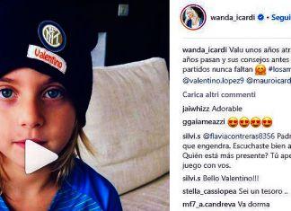 valentino lopez icardi wanda nara inter instagram