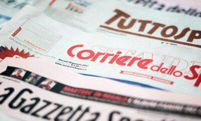 Prime Pagine Quotidiani Sportivi italiani oggi