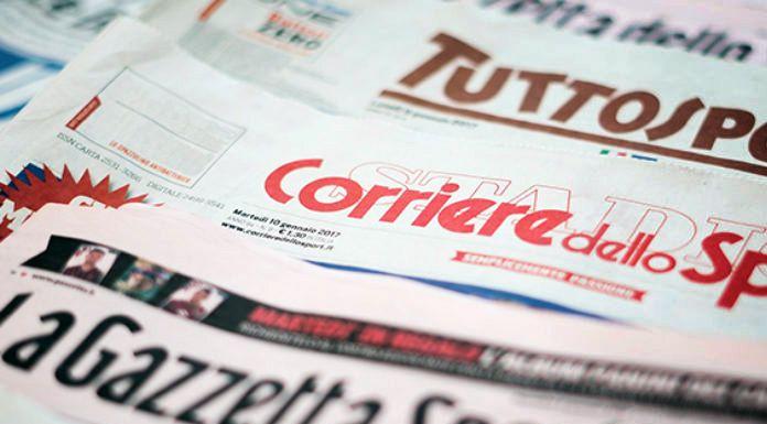 Le Prime Pagine dei Quotidiani Sportivi italiani di oggi