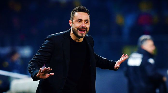 De Zerbi: «Fiorentina importante. Io sto bene al Sassuolo»