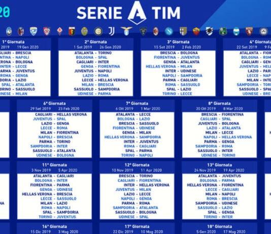 Calendario Serie A 2019/2020