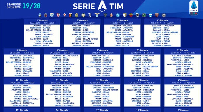 Calendario Serie A 2019/2020: date, risultati e classifica