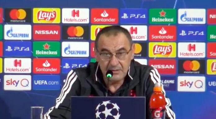 Conferenza stampa Sarri: «Champions League un peso? Più pres