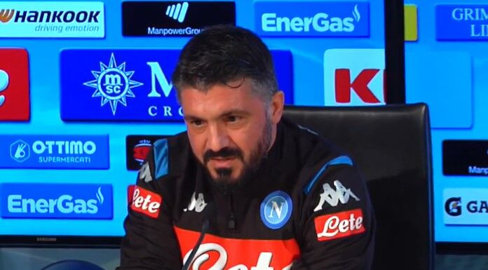 Gattuso: «Obiettivo Champions: vedere il Napoli settimo crea