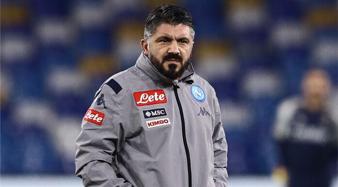 Napoli, messaggio per Gattuso: «Ti abbracciamo forte»