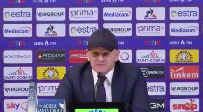 Iachini: «Ai punti avremmo meritato di vincere» – VIDEO