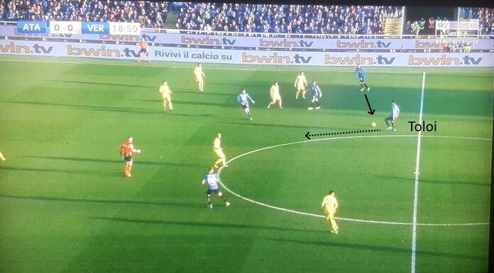 Atalanta Verona: il peso di Toloi nella manovra