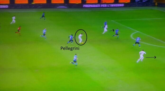 Roma: l'imprecisione di Pellegrini in zona di rifinitura