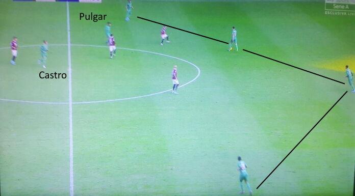 Fiorentina: Pulgar soffre davanti alla difesa