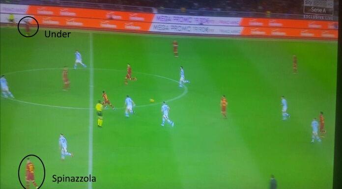 Roma Lazio: Under catalizza il gioco a destra