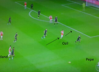 arsenal pepe ozil