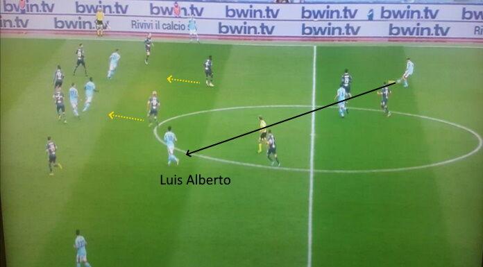 Lazio Sampdoria: male il pressing ospite, troppi spazi tra l