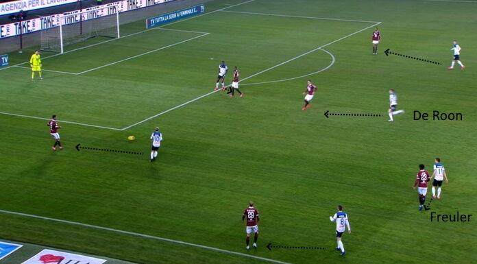 Torino Atalanta: Lukic e Meite sono sovrastati in mezzo