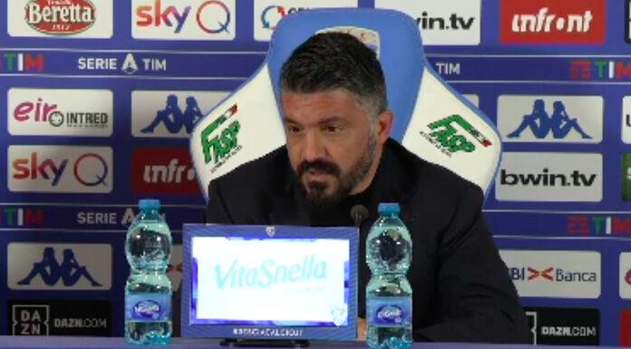 Gattuso: «Dopo il gol preso qualcuno insultava e faceva il v