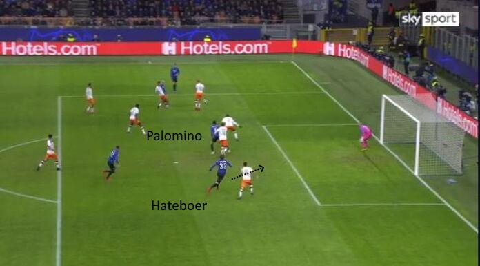Atalanta Valencia: Palomino riempie l'area nel gol di Hatebo