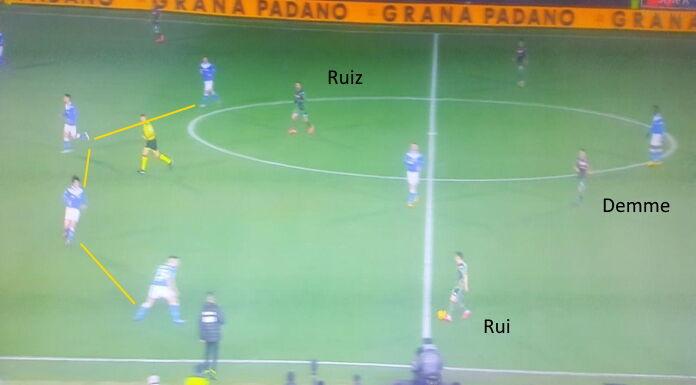 Brescia Napoli: Mario Rui esprime le difficoltà della squadr