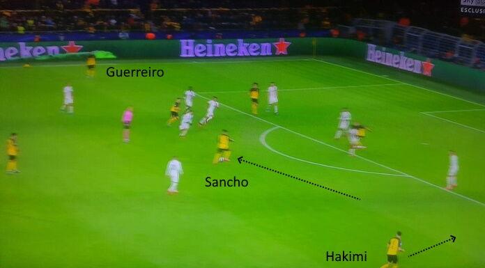 Borussia Dortmund: Sancho combina con Hakimi e Guerreiro