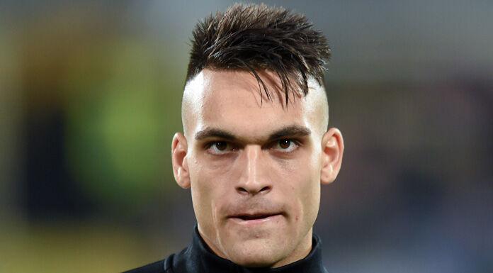 Lautaro Martinez dopo l'allenamento: «Forza Inter» – FOTO