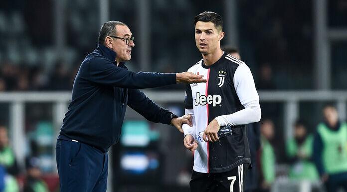 Juve Torino, Sarri parla con Ronaldo e il portoghese scuote